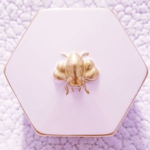 Small Gold and White Jewelry Box. NWT.